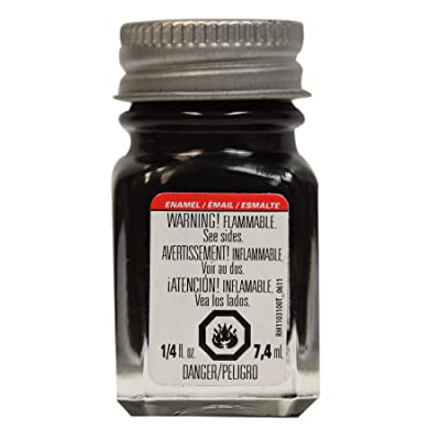 Testors 1147TT Black, Gloss, 0.25 fl oz Enamel Paint: Home & Kitchen