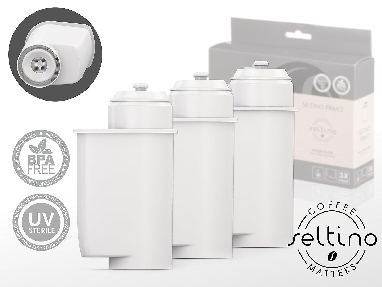 3x Filterpatrone Seltino PRIMO - Ersatzfilter für Brita Intenza 467873 TZ70003, für Espressovollautomaten Bosch, Neff, Siemens, Gaggenau.