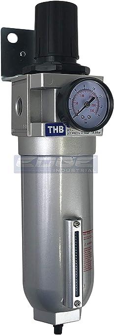 3//4 Heavy Duty Pressure Regulator//Particulate Filter Water Trap Auto Drain