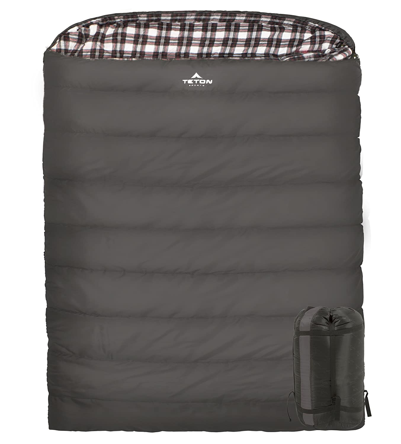 TETON Sports Fahrenheit Mammoth Double Sleeping Bag Warm and Comfortable Double Sleeping Bag Great for Family Camping Compression Sack Included