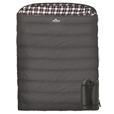 TETON SPORTS Fahrenheit Mammoth Double Sleeping Bag; Warm and Comfortable; Double Sleeping Bag Great for Family Camping; Compression Sack Included