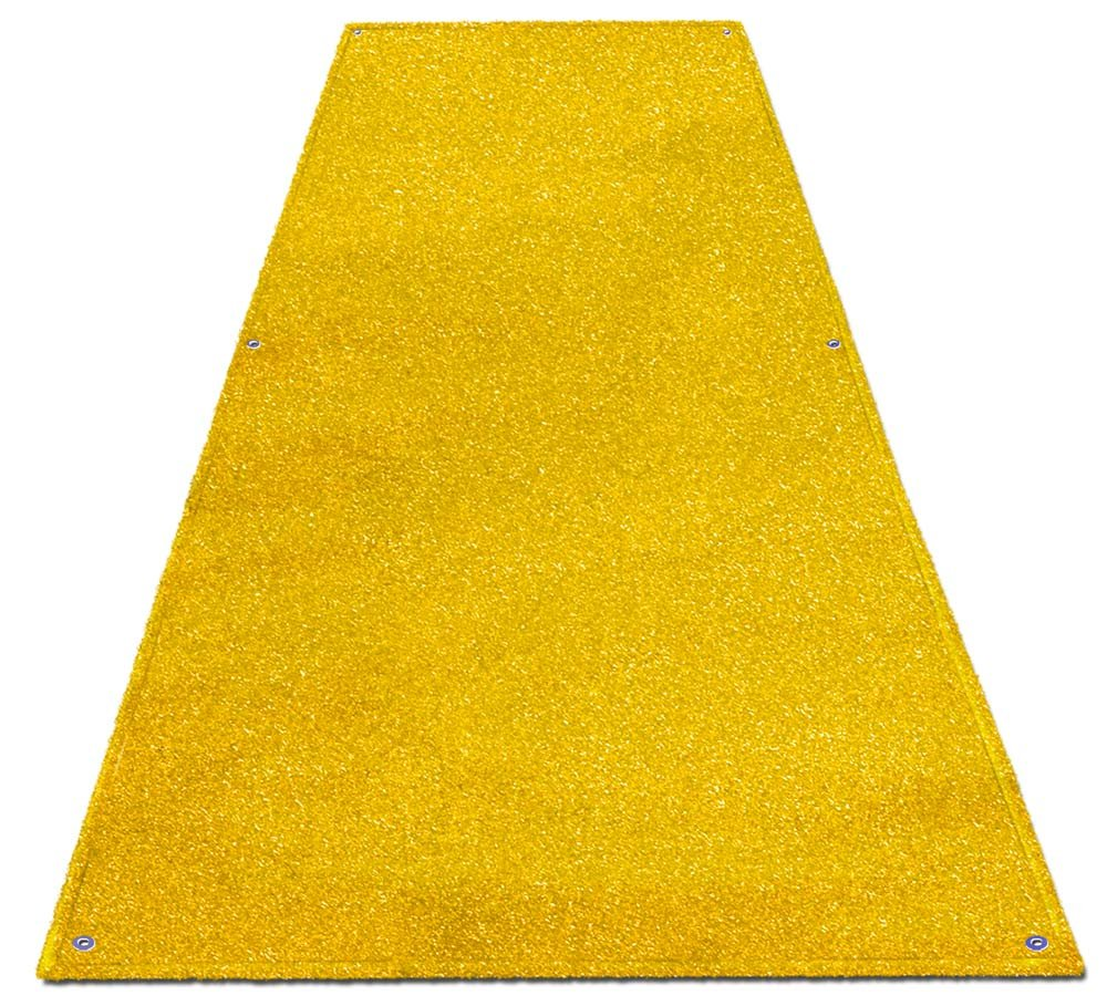 Outdoor Turf Wedding Aisle Runner - Yellow - 4' x 20' - Many Other Sizes to Choose From by House, Home and More