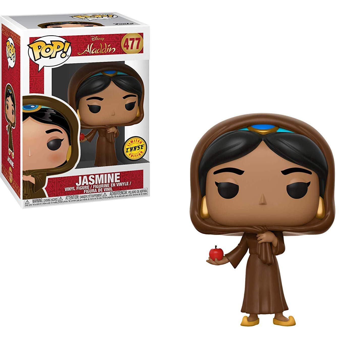Chase Edition BCC940N72 #477 // 35754 - B Funko Jasmine Disney Vinyl Figure /& 1 PET Plastic Graphical Protector Bundle : Aladdin x POP