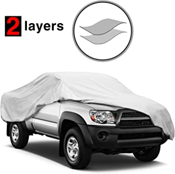 Waterproof Scratch Resistant All Weather Truck Cover with Windproof Ribbon /& Anti-theft Lock for Automobiles Outdoor Indoor Fit Truck up to 224 Kakit Pickup Truck Cover