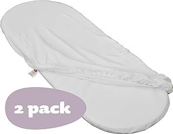 Shnuggle doppelpack moses basket spannbettlaken weiß: amazon.de: baby