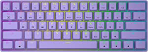 GK61s Mechanical Gaming Keyboard - 61 Keys Multi Color RGB Illuminated LED Backlit Wired Programmable for PC/Mac Gamer (Gateron Mechanical Brown, Lavender)