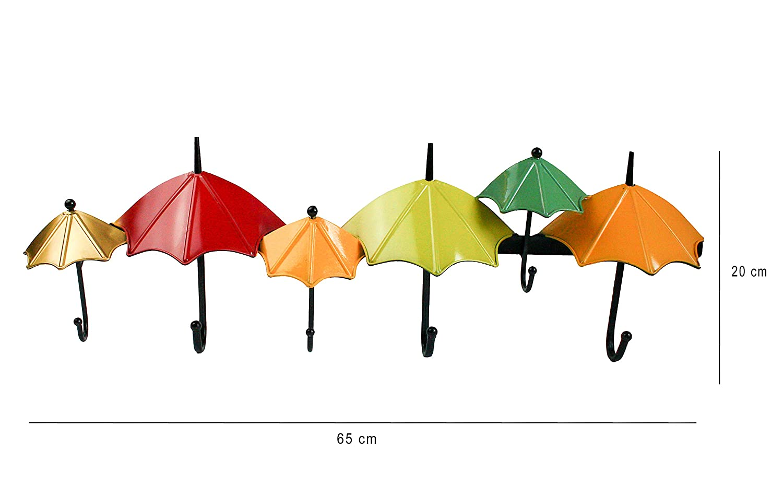 MultiColoured Umbrellas Emartbuy Wall Mounted Funky Coat Hat Towel Hooks Hanger Organiser Rack