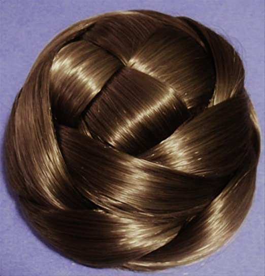 Victorian Makeup Guide & Beauty History Wiglet Chignon Bun Hairpiece - 12 Light Golden Brown $26.99 AT vintagedancer.com