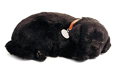 Amazoncom Perfect Petzzz Black Lab Breathing Puppy In Dog Bed
