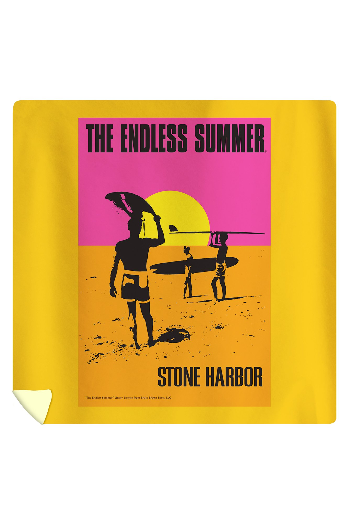 Stone Harbor, New Jersey - The Endless Summer - Original Movie Poster (88x88 Queen Microfiber Duvet Cover)