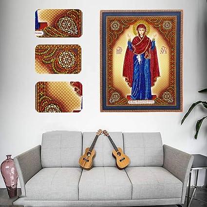 Amazon Com Ddlmax 5d Religion Diamond Embroidery Painting Cross