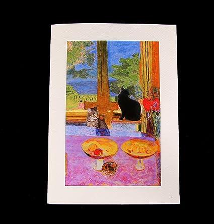 Amazon cat greeting cards fine art blank handmade pierre cat greeting cards fine art blank handmade pierre bonnard parody by deborah m4hsunfo