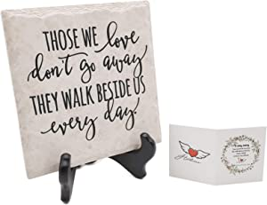 Hotme Passed Away Loved Ones Gifts,In Memory of Loved One Garden Stone,Ideal Sympathy Gift/Bereavement Gift/Memorial Gifts/Remembrance Gifts/Condolence Gifts,Those We Love Don't Go Away Plaque + Stand