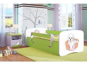 CARELLIA Cama Infantil pequeño Perro 80 cm x 180 cm con Barriere Zapatillas de