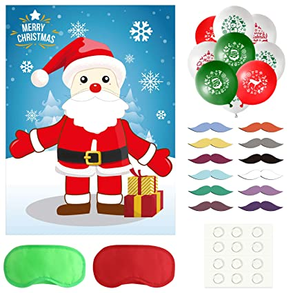 79dfd6a8ea14a TUPARKA Pin the Beard on the Santa Claus Christmas Party Games with 24  Beard Stickers and