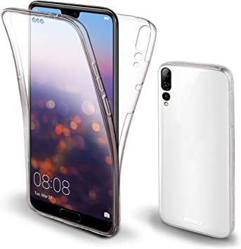Moozy Funda 360 Grados para Huawei P20 Pro Transparente Silicona ...