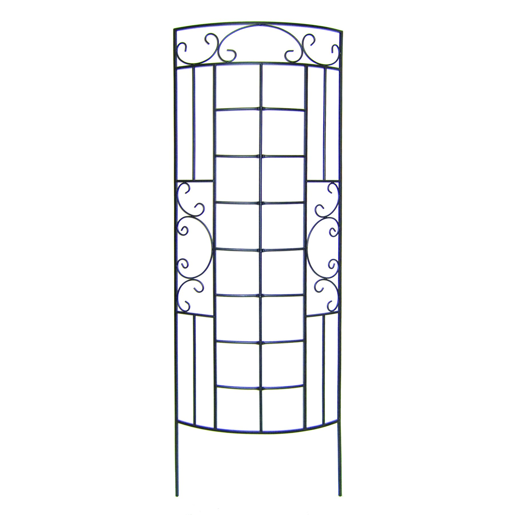 Panacea Romantic Curved Trellis, Black