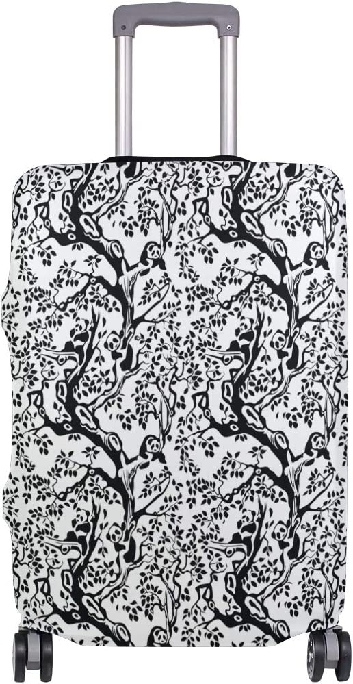 Fashion Travel Pandas In The Foliage Tree Branches Luggage Suitcase Protector Washable Baggage Covers