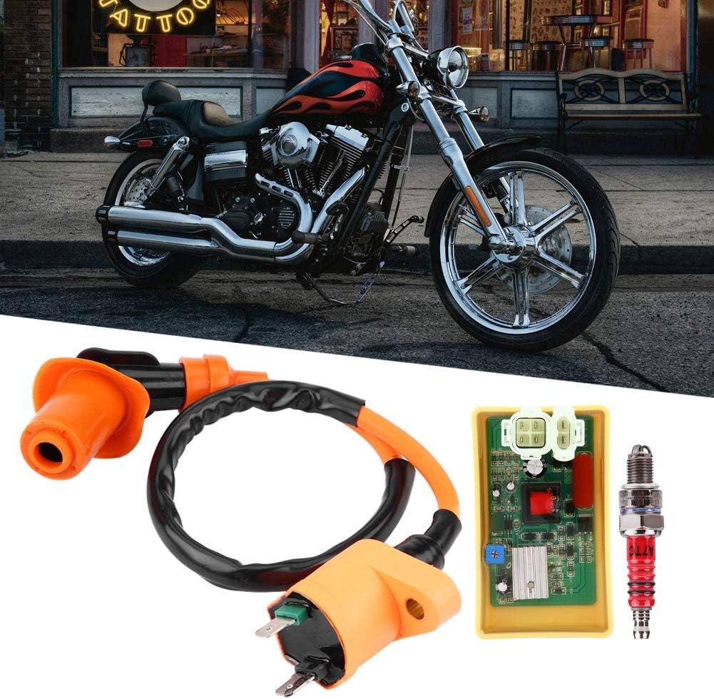 Kit de syst/ème dallumage de remplacement EVGATSAUTO 6 broches CDI r/églable DC Performance bobine de bougie dallumage pour GY6 50cc 250cc Scooter cyclomoteur ATV partie