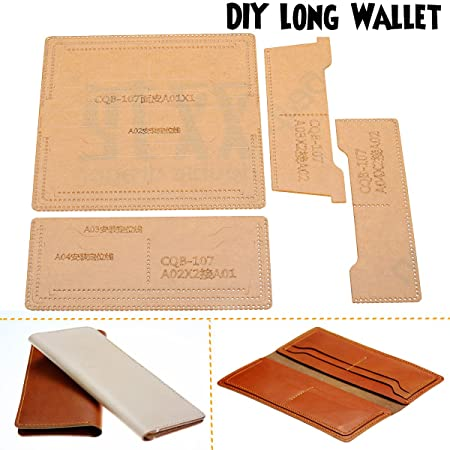 AgSivo Leather Acrylic Template For Card Case Wallet Templates Set Purse Crafting Pattern Stencil