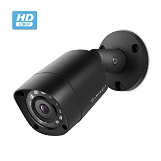 Amcrest Full HD 1080P 1920TVL Bullet Outdoor HDCVI Security Camera, 2MP 1920x1080, 98ft Night Vision, Metal Housing, 3.6mm Lens 90° Viewing Angle, Black (REP-AMC1081BC36-B) (Renewed)