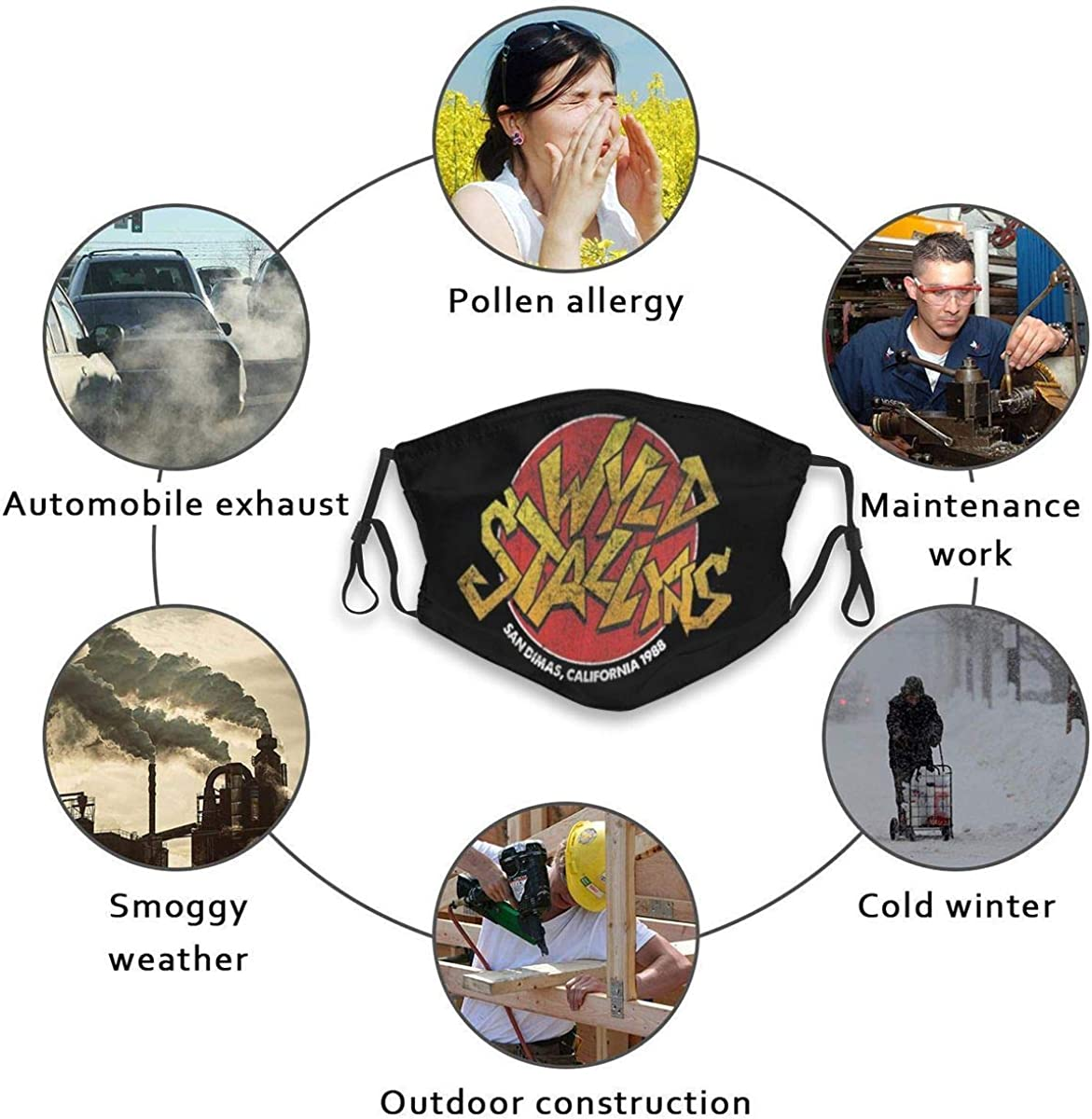 Aaronxt WYLD Stallyns Unisex Face Mouth Cover Windproof Dust Protection Scarf Bandana