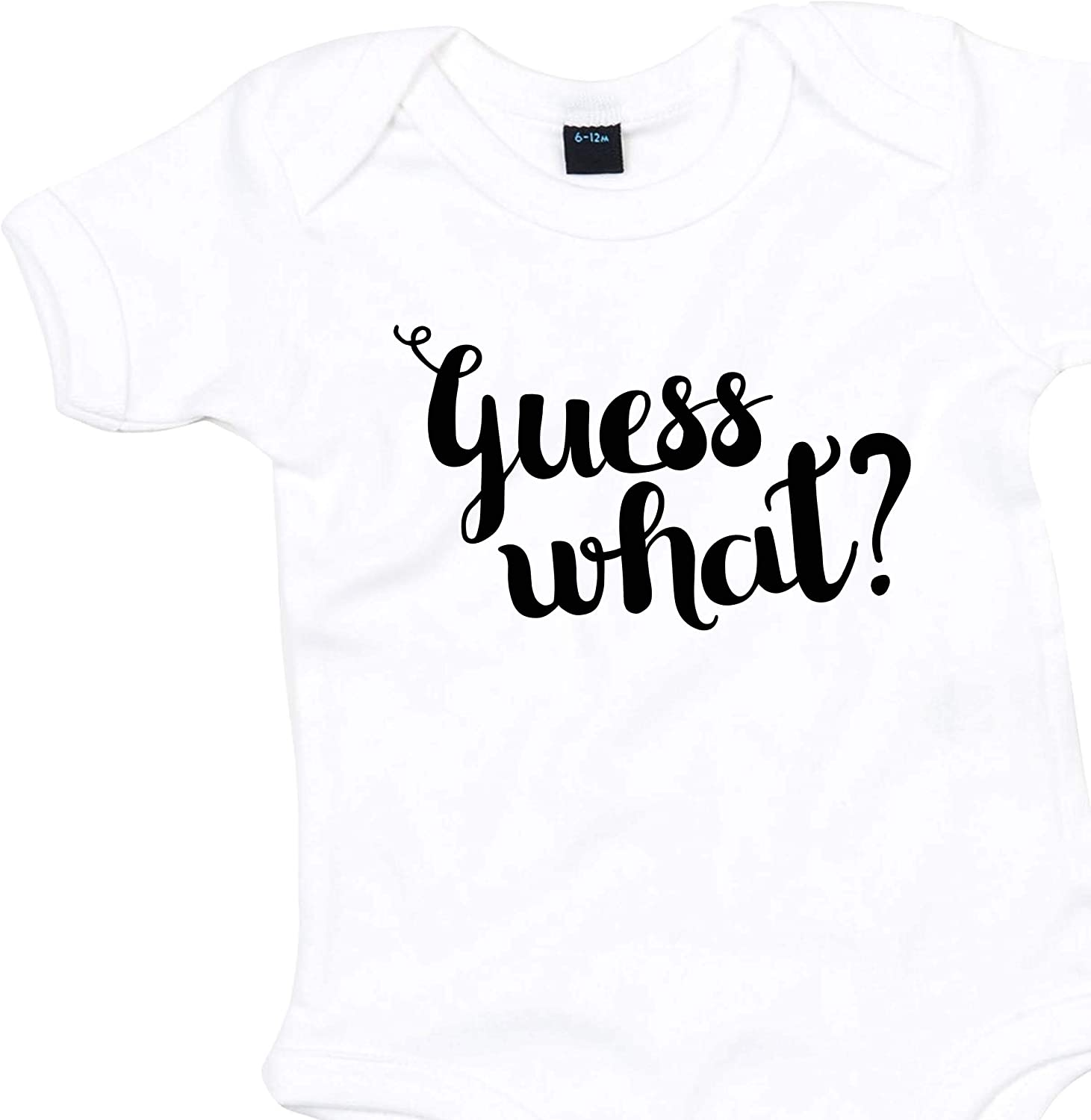 Guess What Baby Announcement Baby Grow Vest Pregnancy Reveal Boy Girl Gender Reveal Gifts for Grandparents Baby Girl Baby Boy Pregnancy Announcement