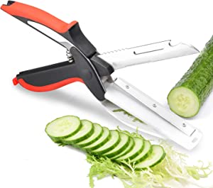 Universal 6 in 1 Clever Food Choppers Slicer Cutter With Built-in Cutting Board- Ideal Tool for Picnics