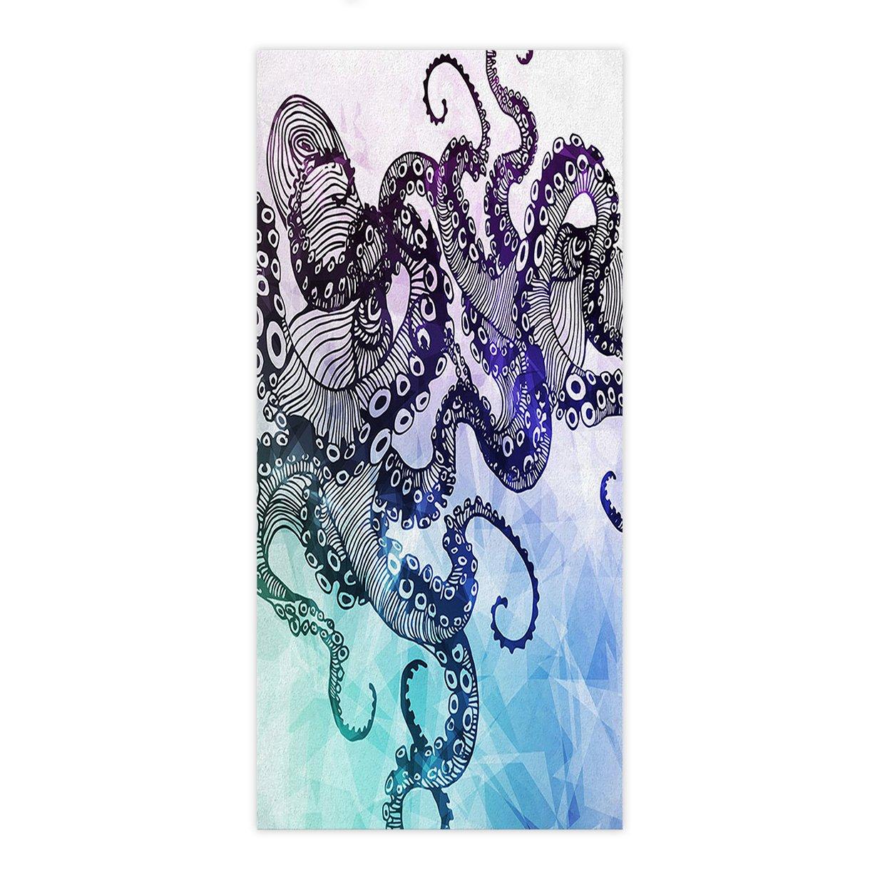 Crystal Emotion Watercolor Sea World Animal,Beach Towel Bath Towel Bathroom Shower Towel Bath Wrap For Body,Gym,Spa,Home,Hotel Use