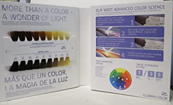 wella professionals illumina hair color swatch book binder - Color Swatch Book