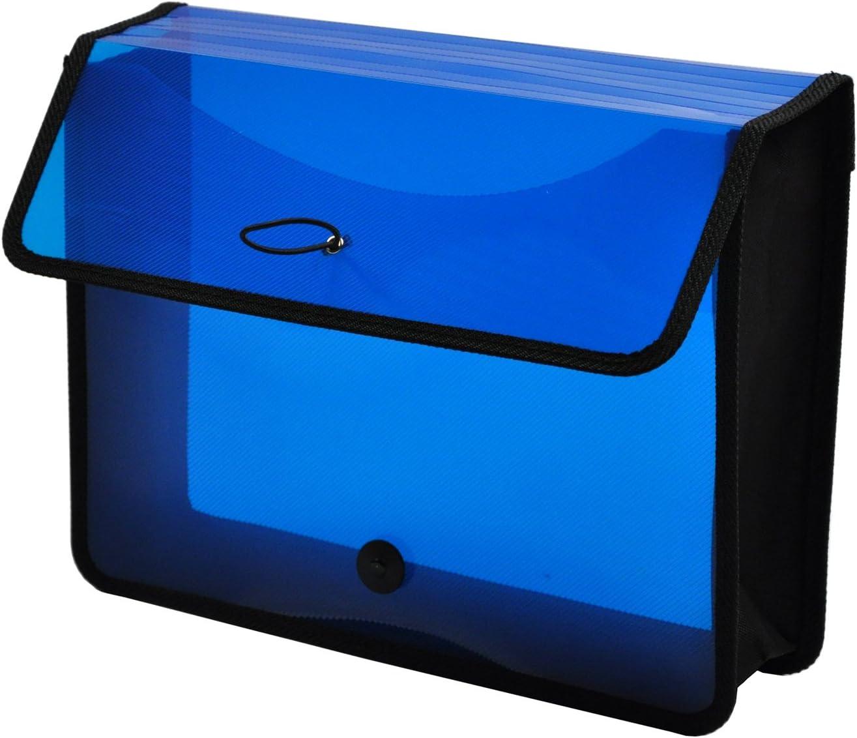 Lion EPAND-N-File Poly Expanding Wallet, Transparent Blue, 10 1/5