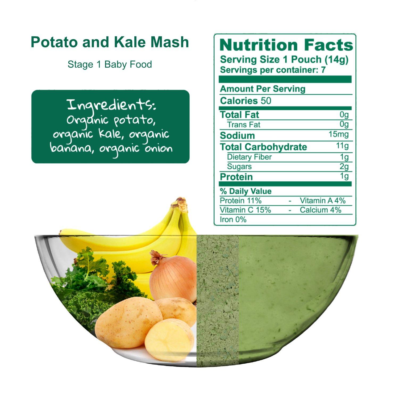 Amara Baby Food Kale Potato Premium Taste Texture Nutrition