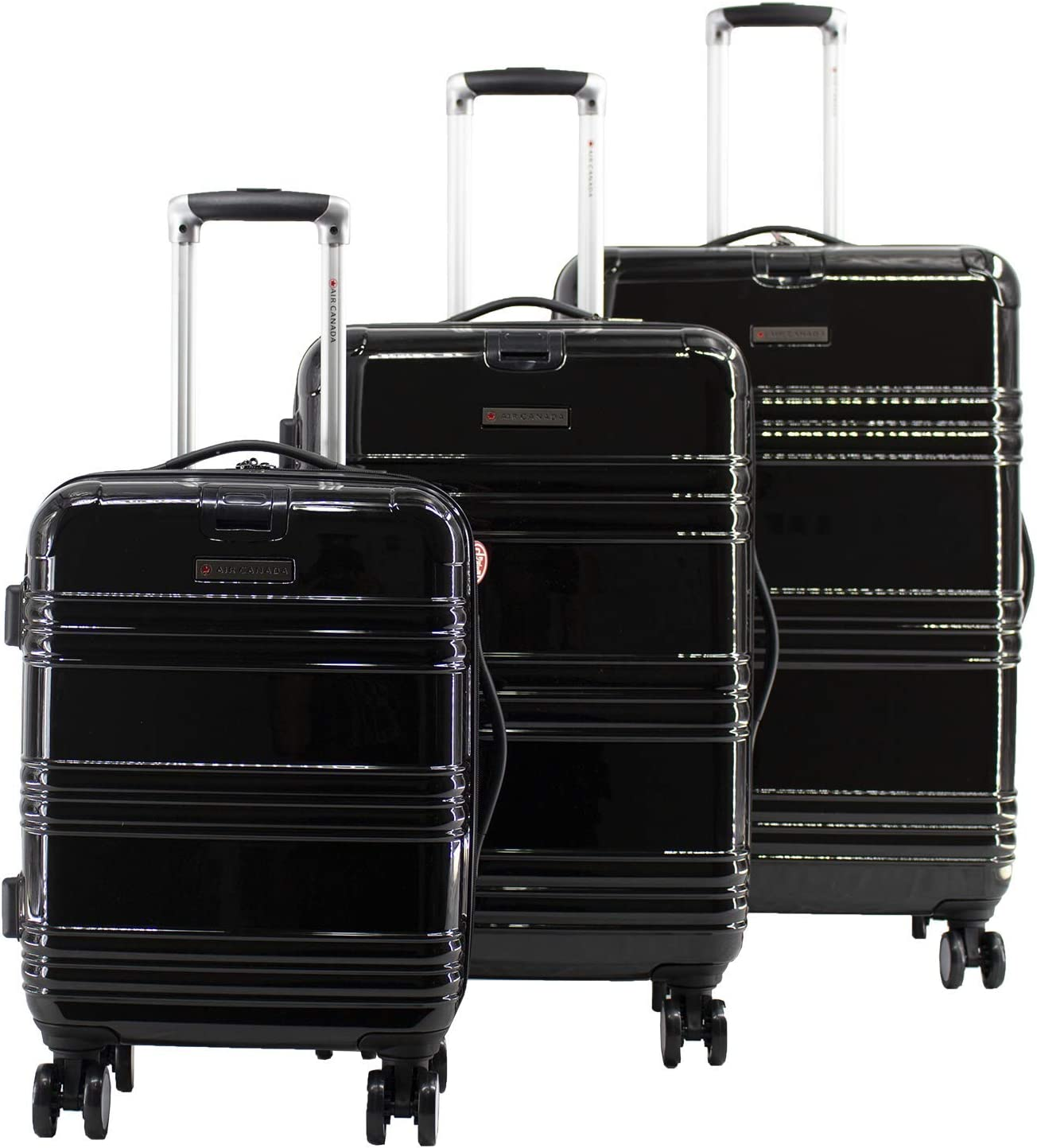 Air Canada - Juego de maletas negro negro