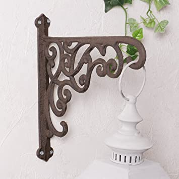 Distressed Scroll Detail Metal Exterior Wall Hook, Stunning for ...