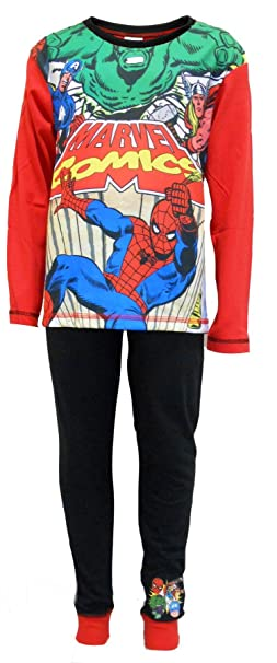 """Pijamas para niños de """"Superhéroes en acción"""" de Marvel Comics 9-10"""