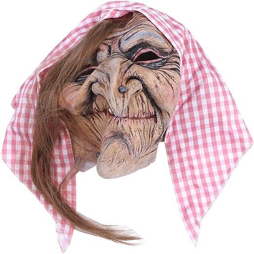 Amosfun máscara de Bruja Vieja para Hombre máscara de Bruja ...