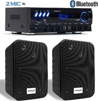 Audibax Equipo Karaoke Amplificador Bluetooth Zero 500 30W RMS + ...