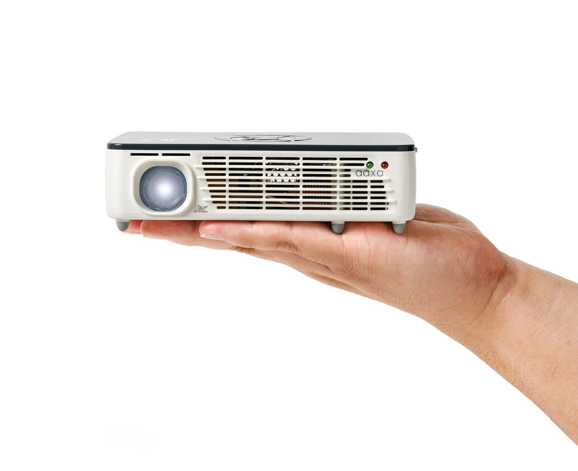 AAXA P450 Pro 3D LED Pico/Micro Smart Projector, Built-in Video Streaming Apps, Office Viewer, WiFi & Bluetooth, WXGA HD Native Resolution, Android OS, DLP, HDMI, Home Theater & Business, 500 Lumens