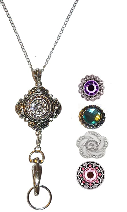 on holders filigree lanyards pizazzstudios holder owl badge id images lanyard necklace best chain silver jewelry pinterest