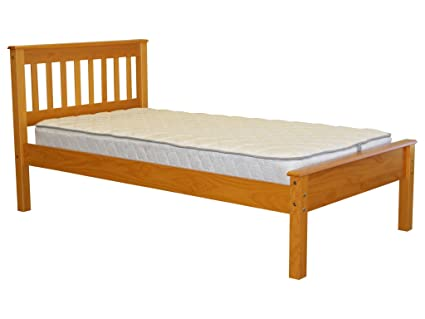 Bedz King Mission Style Twin Bed, Honey