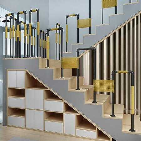Barandilla de Escalera Negra (Kit Completo), Pasamanos de tubería de Agua de Hierro Forjado para niños Mayores, Fácil instalación, Los 35-95cm: Amazon.es: Hogar