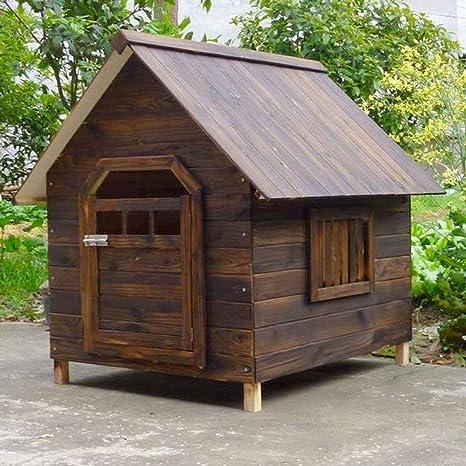 Lijin light Gran casa de Perro de Madera Maciza al Aire Libre a Prueba de Agua