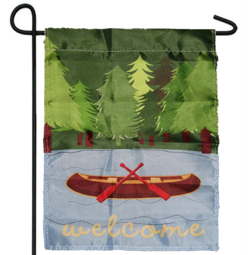 LakesideカヌーボートWelcomeガーデンバナー/国旗12