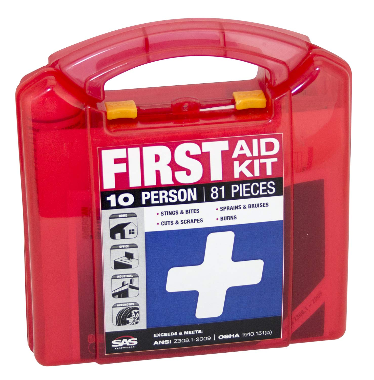 SAS Safety 6010 10-Person First-Aid Kit by SAS Safety
