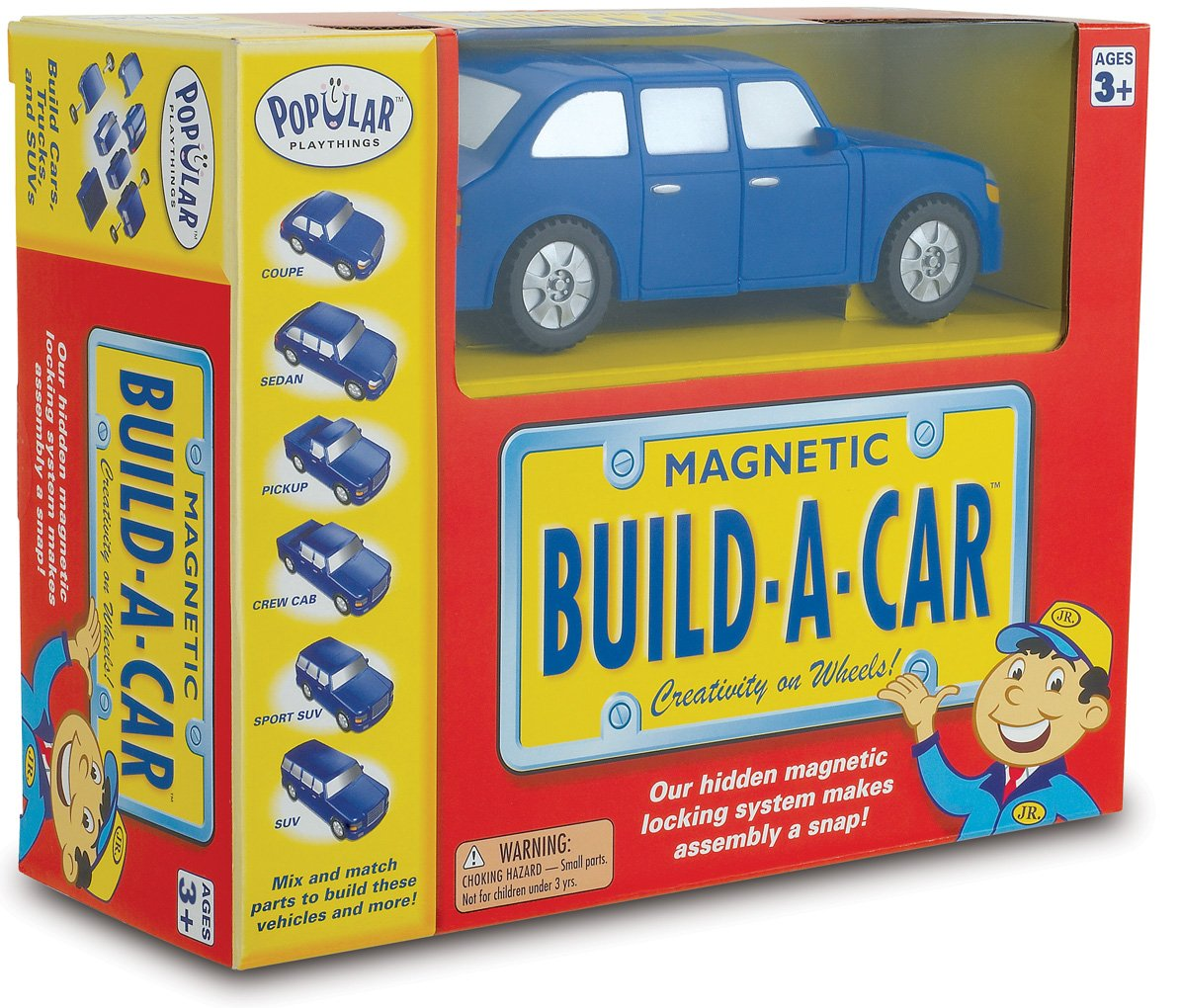 60101 Popular Playthings Magnetic Build-a-Car Huntar Company Inc