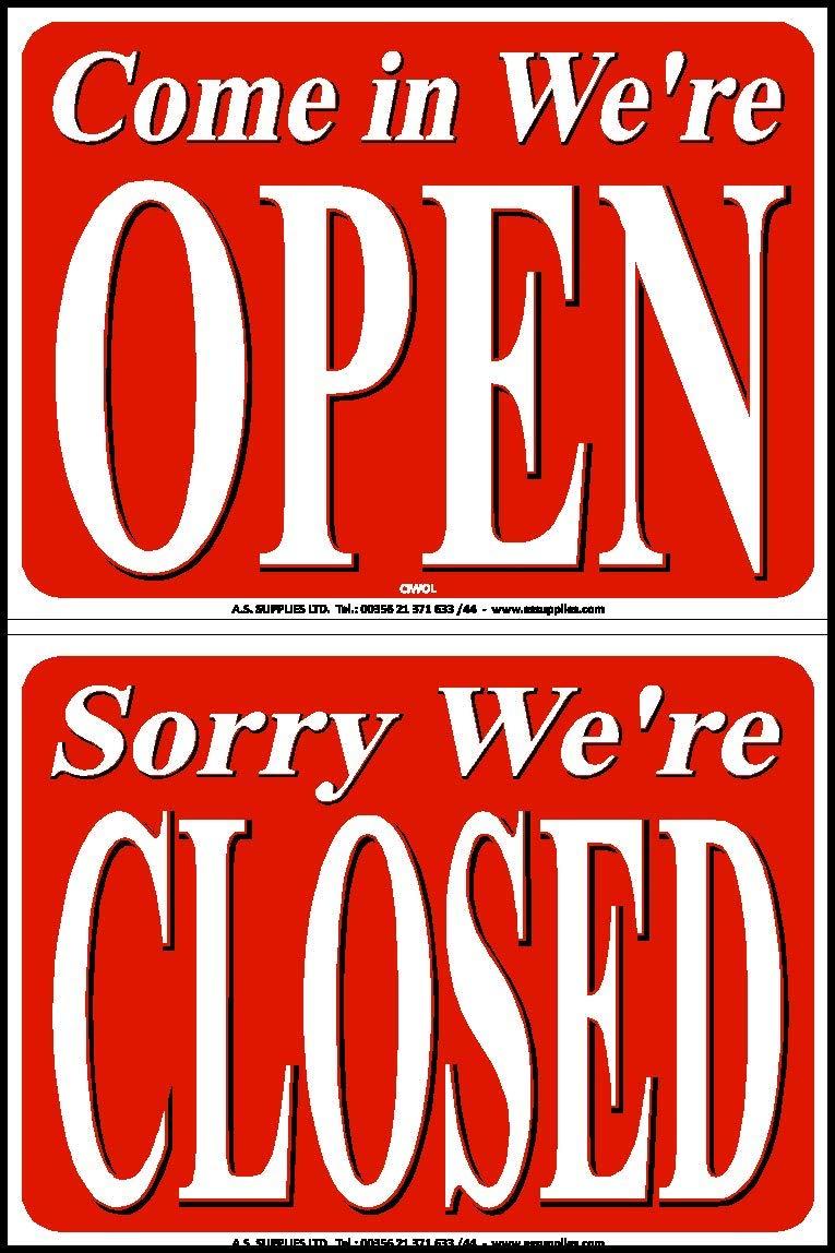 Open Close Shop - Cartel con Texto en inglés Come in We Open ...