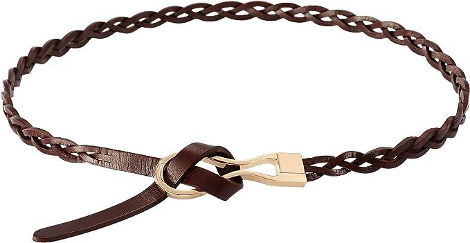 Sottile cintura da donna 2cm Pelle Larga Nero Cintura in vera pelle bovina