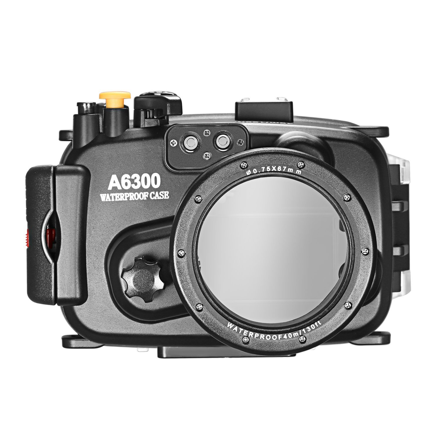 Neewer Waterproof Camera Case for Sony A6300 with 16-50mm Lens, 40 meters/131 feet Water-Resistant Protective Housing for Shooting in Underwater Diving Snorkeling Rainy Snowy Dust Muddy Circumstances by Neewer