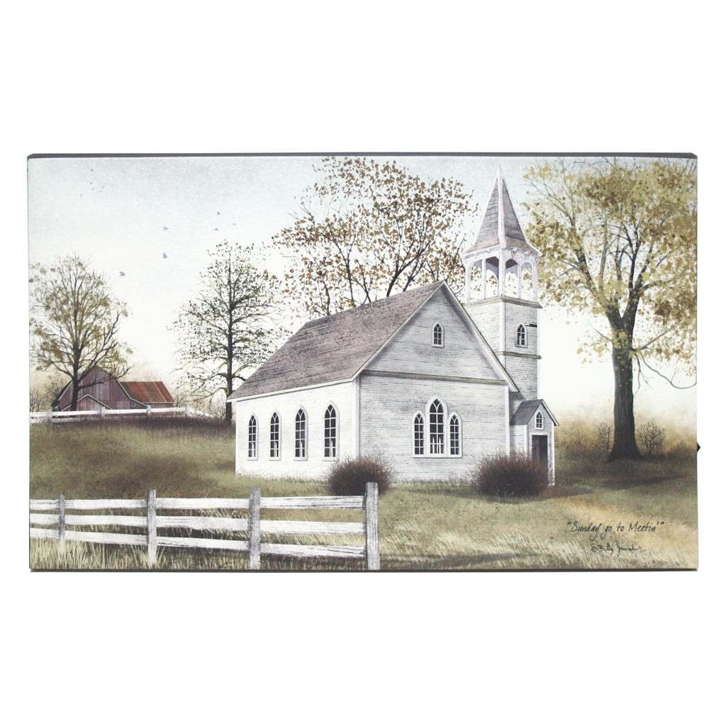 Kennedys Country Collection 72105-20 x 12 x 3//4 Batteries Not Included Sunday Go To Meeting Battery Operated LED Lighted Canvas OHIO WHOLESALE INC//KENNEDY