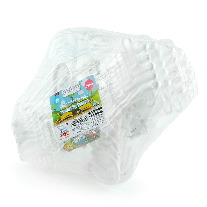 Hangerworld - Perchas de plástico para Ropa de bebé y bebé (30 cm ...